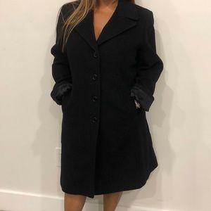 Larry Levine Design lambswool & cashmere coat